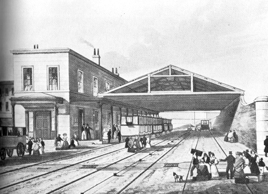 Drawn railroad train station Victorian Mapping Opposition to Motion