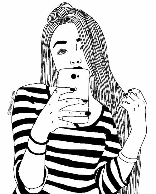 Drawn selfie More about Find Pin Pinterest