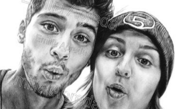 Drawn selfie Selfie Zayn Emilia's of