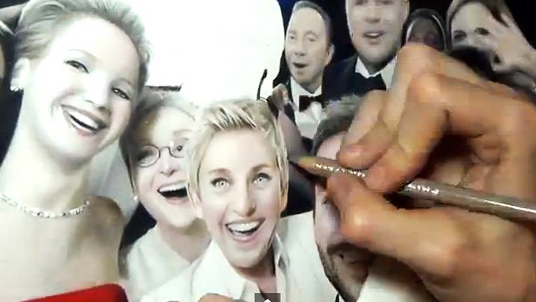 Drawn selfie With video  selfie pencils