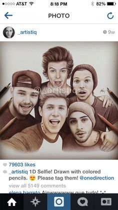 Drawn selfie awesome Her desenhos ! does Follow