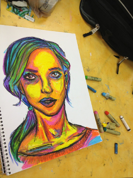 Drawn selfie awesome #art digital Color Color www