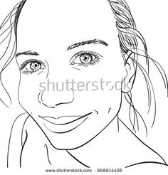 Drawn selfie black line Drawn with face  camera