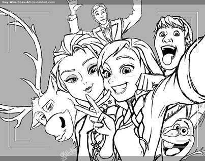 Drawn selfie disney Disney Frozen Frozen selfie selfie