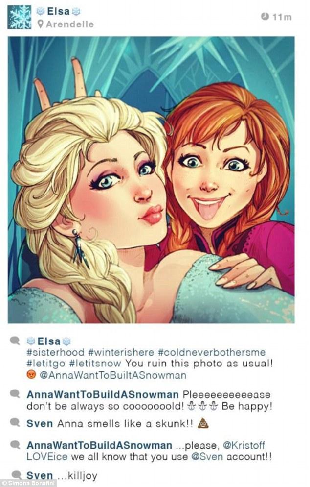 Drawn selfie disney They Disney takes had selfies