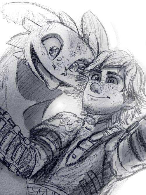 Drawn selfie dragon On images and HTTYD on