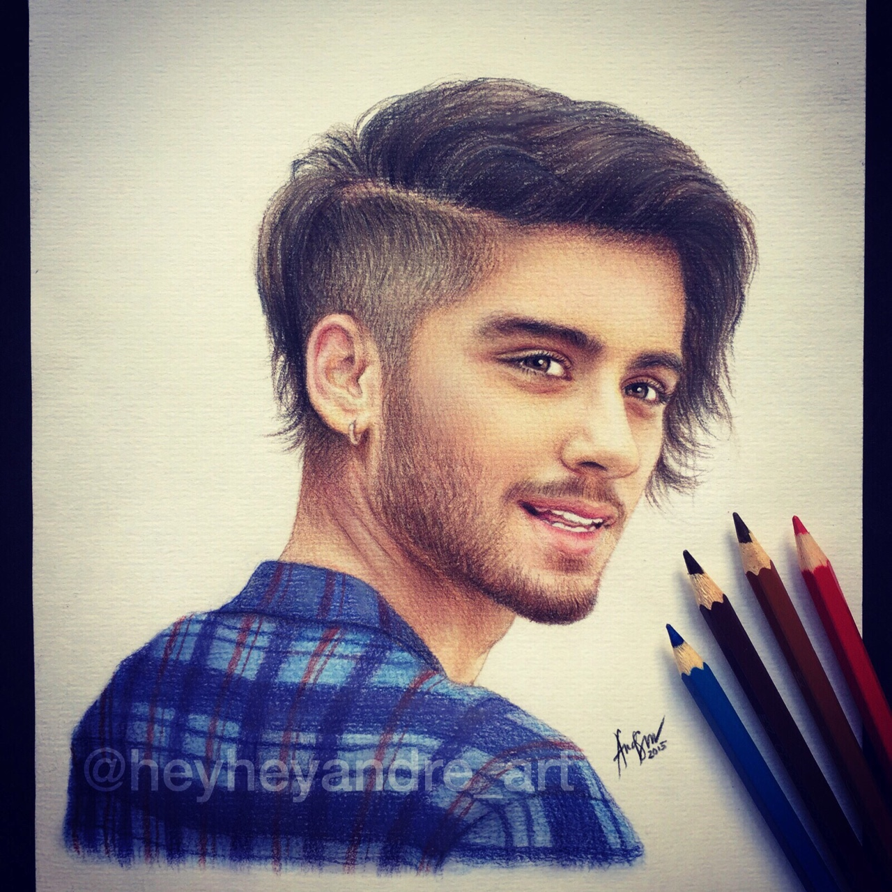 Drawn selfie famous With drawn  colored Malik