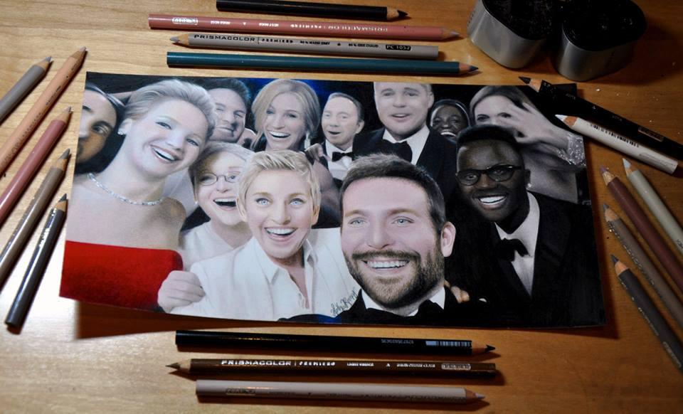 Drawn selfie famous 20 portraits14 Pencil Realistic Creates