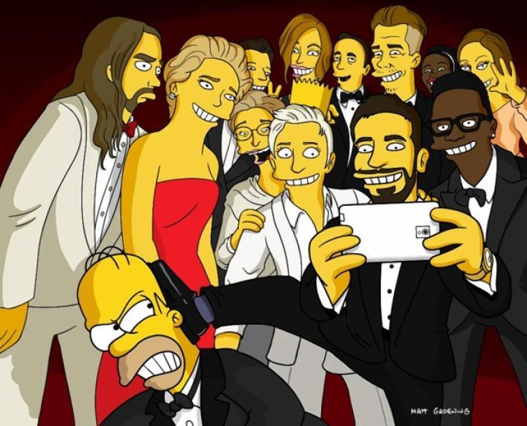 Drawn selfie famous Its Oscars Daily DeGeneres' NY