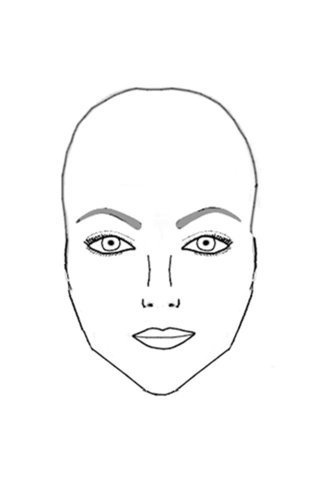 Drawn selfie head shape To Eyebrows Your Face Shaped