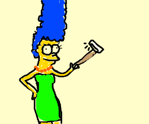 Drawn selfie marge simpson Crayon simpson Ralph: red takes