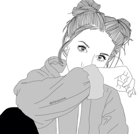 Drawn selfie outlines tumblr Cerca tumblr  con drawing