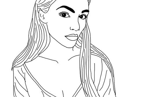 Drawn selfie outlines tumblr Girl selfies We Tumblr Heart