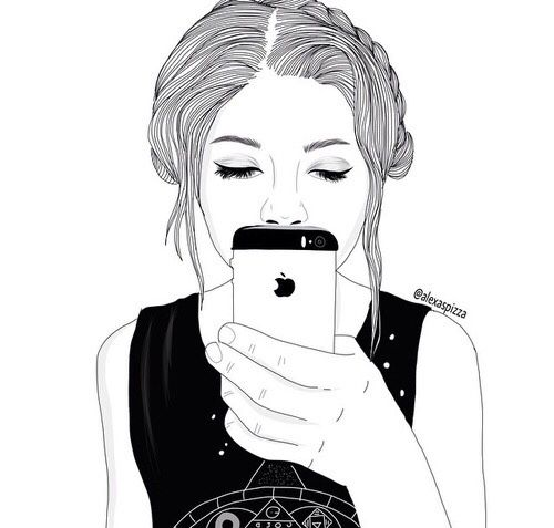 Drawn selfie outlines tumblr Buscar 183 DRAWINGS TUMBLR images