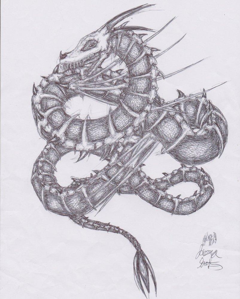 Drawn serpent Art Realistic Drawing Drawing Pencil