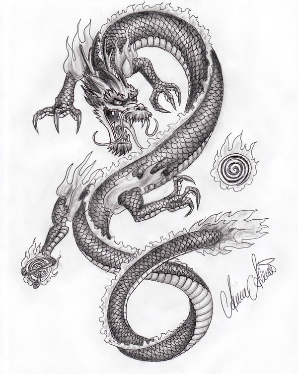 Drawn chinese dragon simple ~XiphoidHonei by on on Pinterest