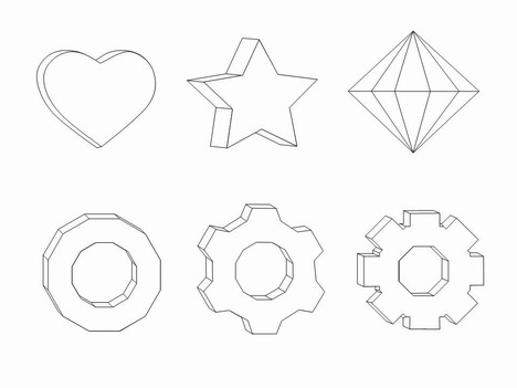 Shapes clipart template #6