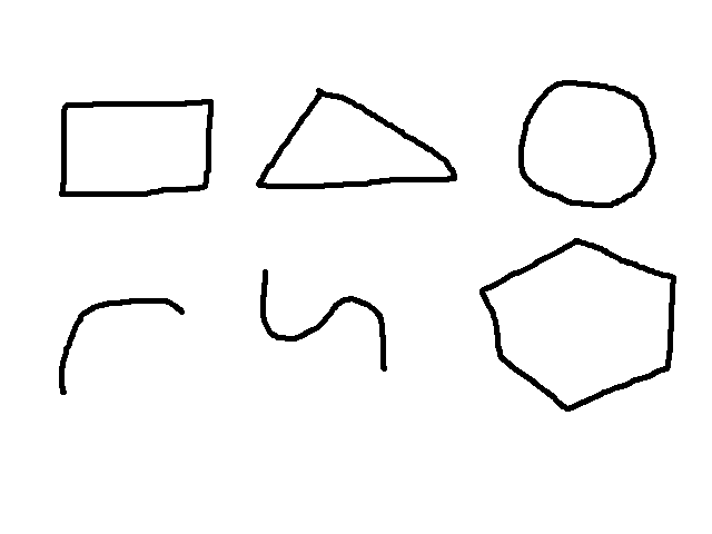 Drawn shapes Android image description drawing OpenCV