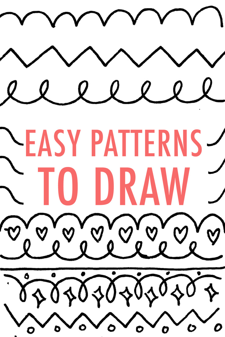 Drawn shapes easy drawing And Pattern Pattern Design Own