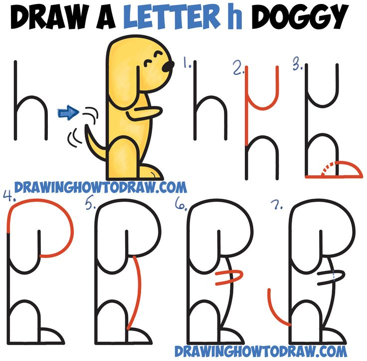 Drawn shapes easy drawing Letters from Words best Easy