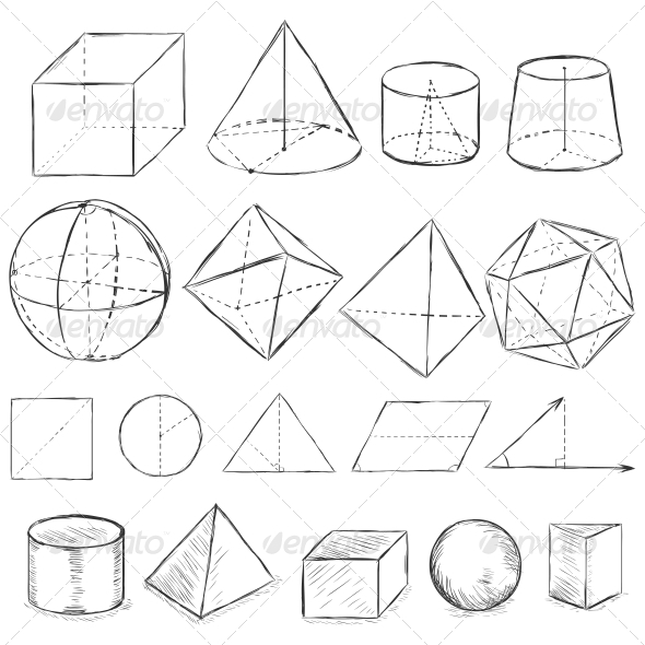 Drawn shapes geometric shape Geometric and Sketches Font Sketch