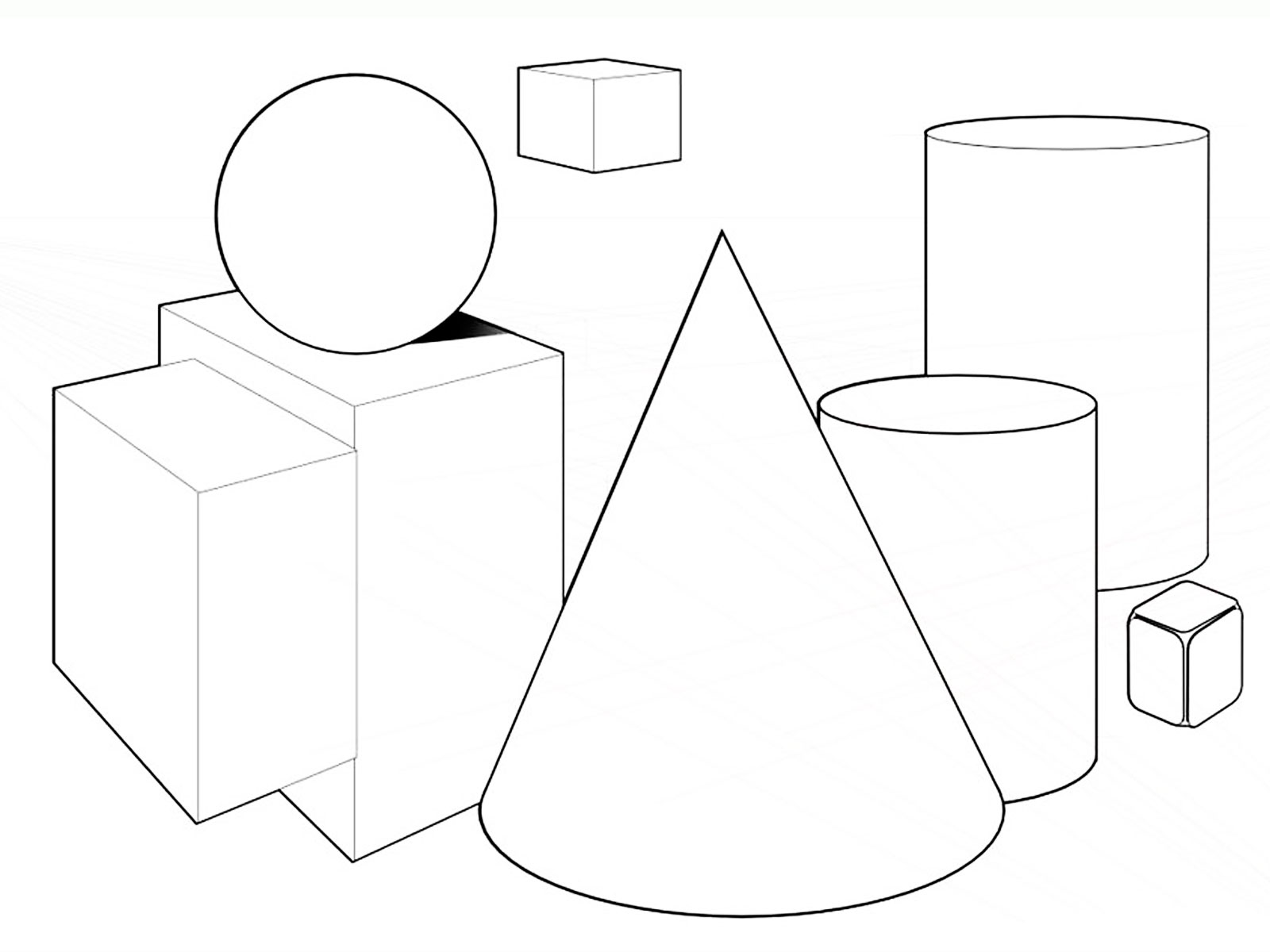 Drawn shapes geometric shape Coloring Printable Pages Geometric Pages