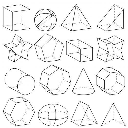 Drawn shapes geometric shape A on collection 89 Geometry