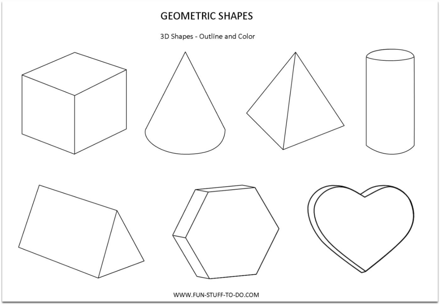 Drawn shapes geometric shape PRINT To Geometric Worksheets Print