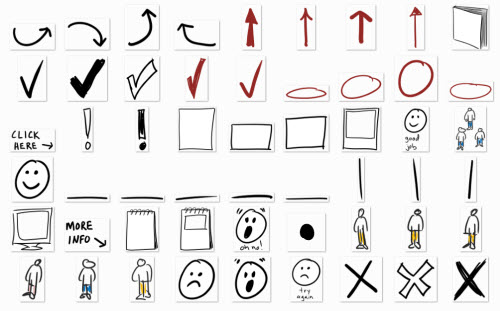 Drawn shapes hand drawn Examples of The E The