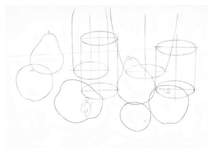 Drawn still life basketball An Life Interesting 2: Drawing