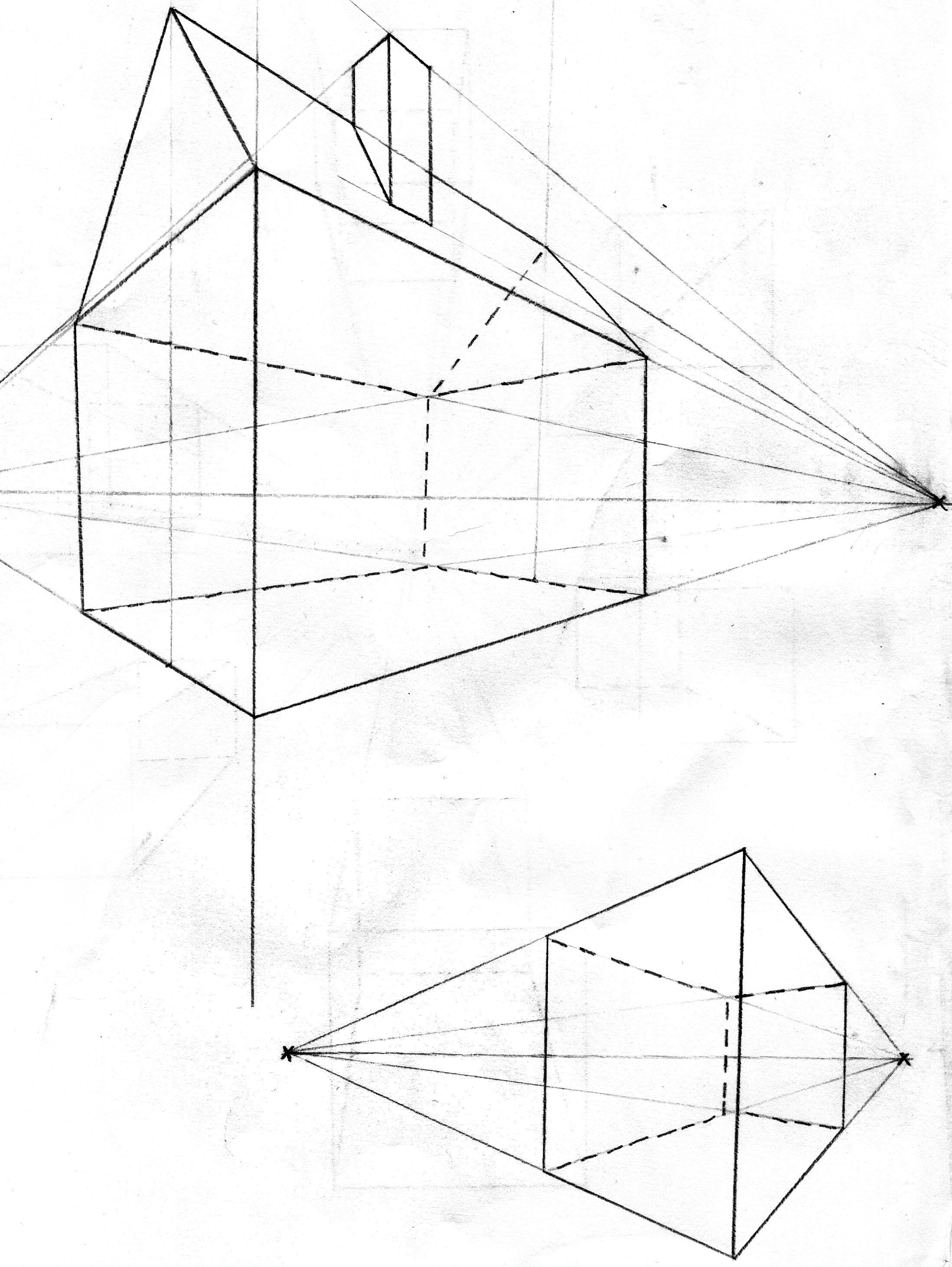 Drawn shapes perspective drawing Art you The 3 show