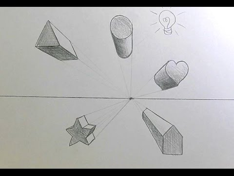 Drawn shapes perspective drawing 1 Shapes Shapes Point 1