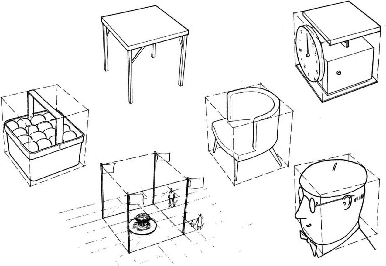 Drawn shapes perspective drawing As Rectangular Brick Can Drawn