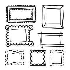 Drawn shapes picture frame