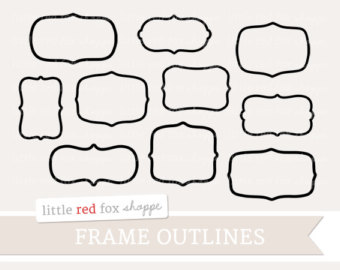 Drawn shapes picture frame Hand Drawn // by Illustrations