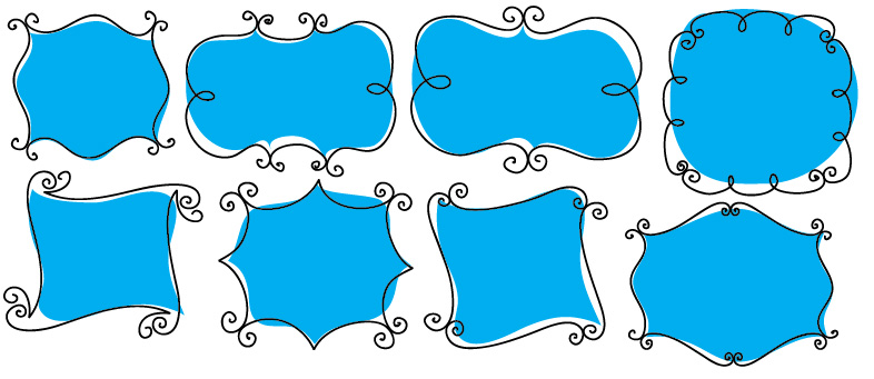 Drawn shapes picture frame And Hand Photos Drawn Frames