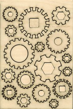 Drawn shapes scrapbook Cog cogs by file adapt