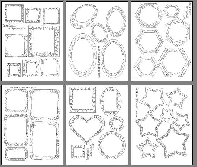 Drawn shapes scrapbook For drawn  Frames Line