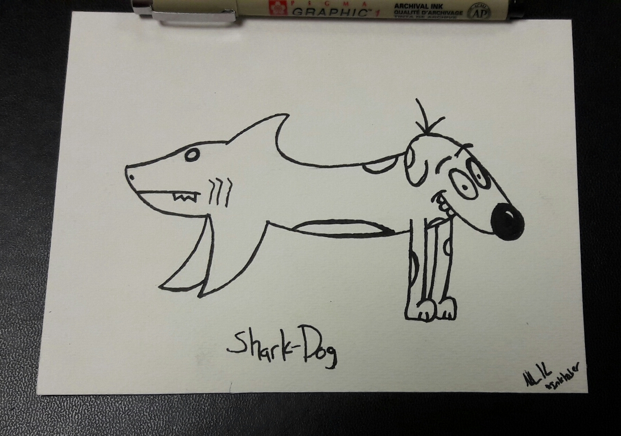 Drawn shark 3rd October jpg imgur Shark :