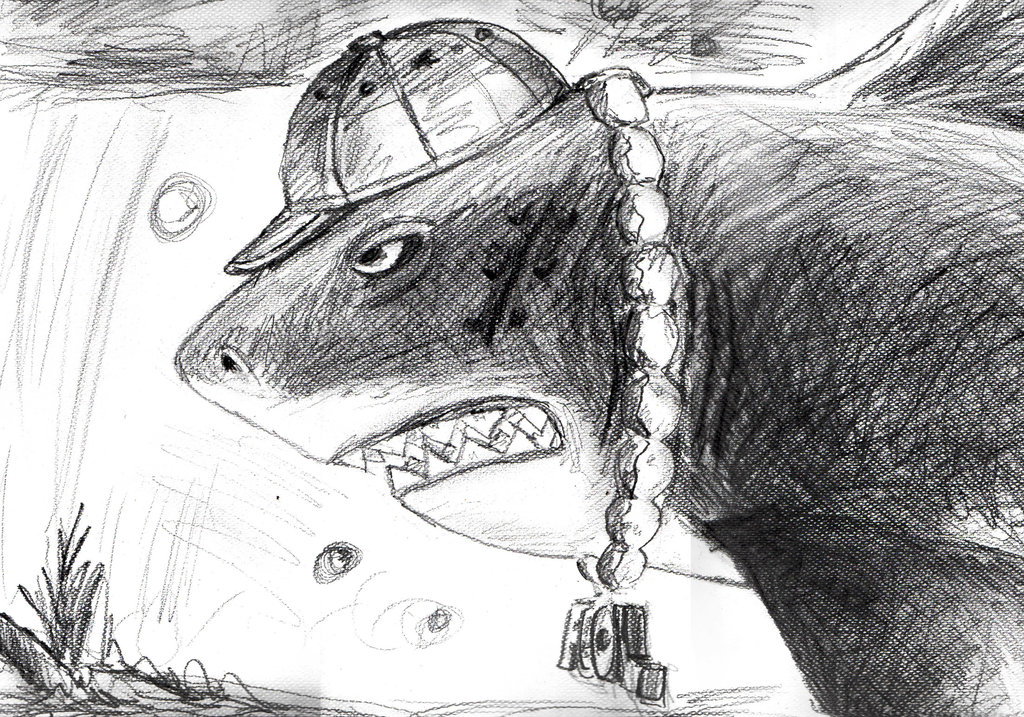 Drawn shark angry shark CiervoAxis Shark on Evolution Skark
