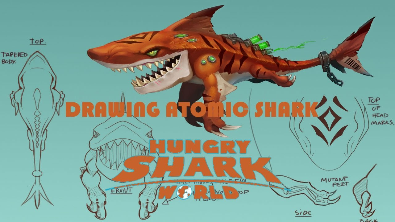 Drawn shark angry shark World Atomic YouTube Shark Hungry