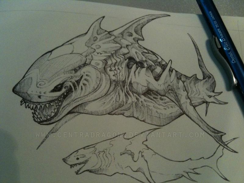 Drawn shark symbol Concept on DeviantArt Shark by
