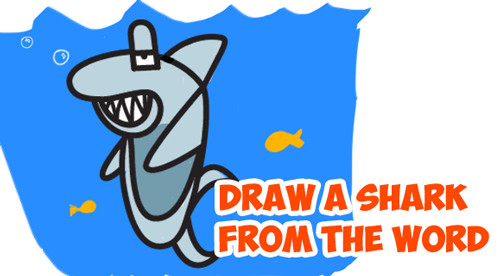 Drawn shark comic By and How Draw
