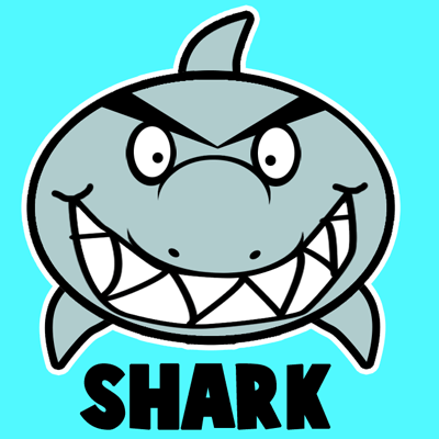 Drawn shark comic Archives How Draw by Step