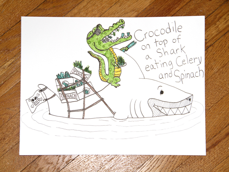 Drawn shark crocodile Jesse Jesse Dribbble Draw [Crocodile
