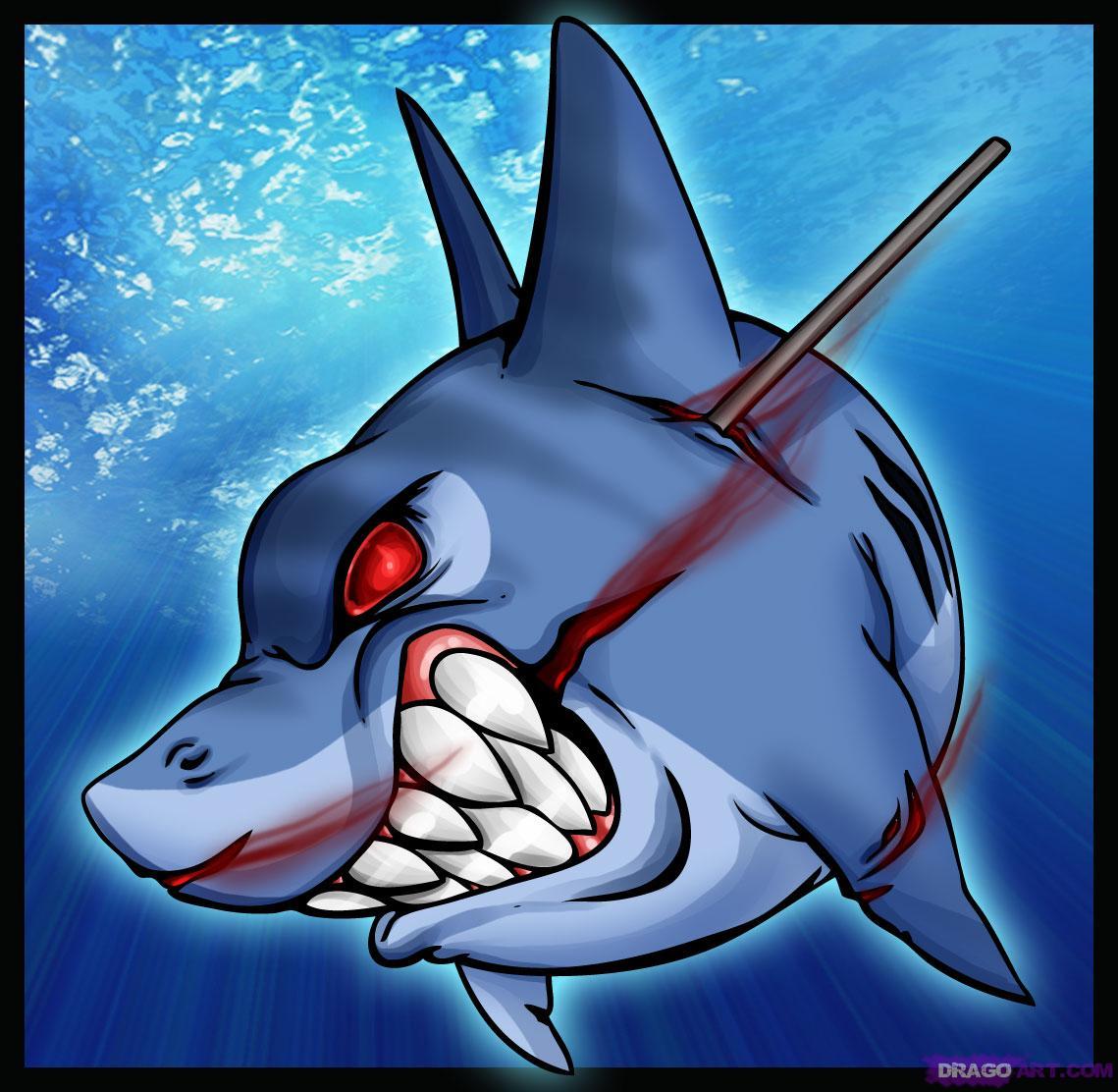 Drawn shark graffiti Step Draw by a Tattoo