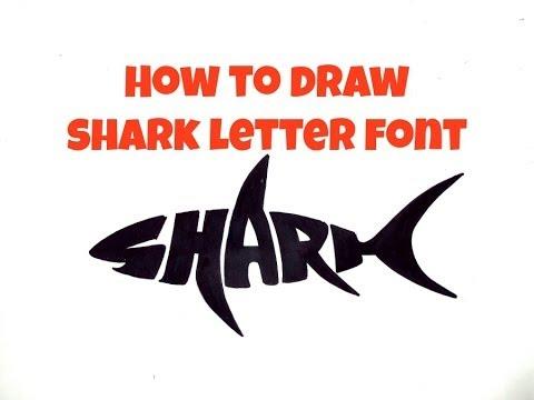 Drawn shark graffiti YouTube How Font Draw Shark