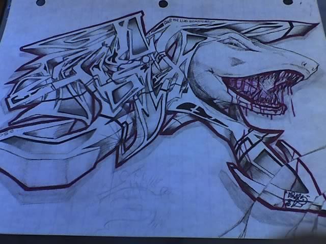 Drawn shark graffiti Allyx by DeviantArt in Graffiti