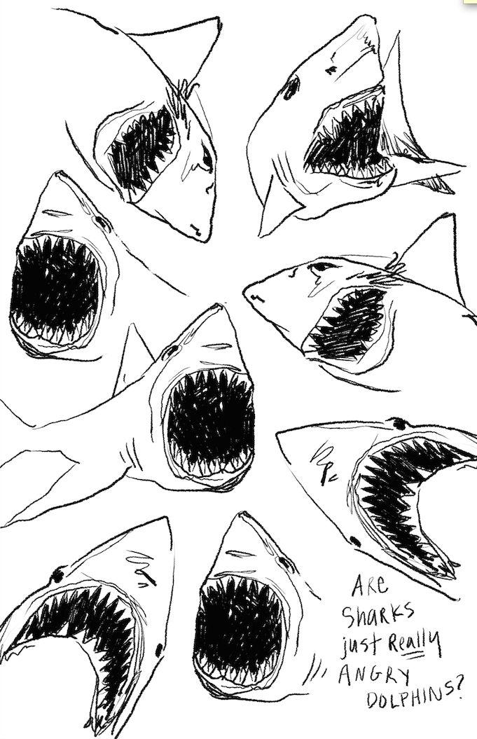 Drawn shark graffiti Ideas dolphins?