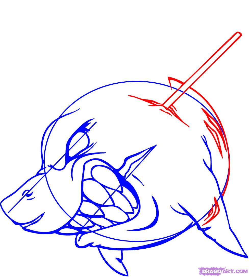 Drawn shark graffiti Step How Tattoo a a